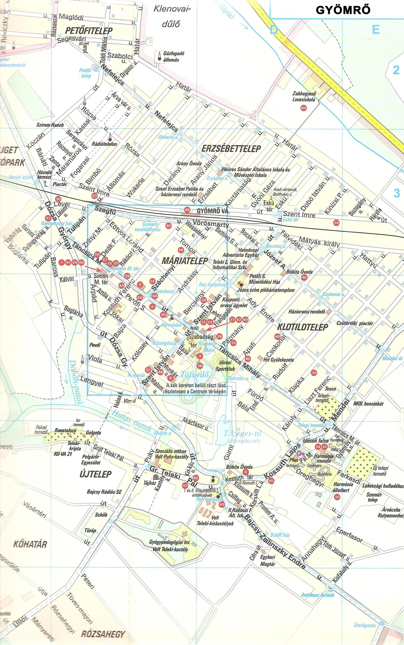 gyömrő térkép Térkép   Gyömrői Kulturális és Turisztikai Egyesület gyömrő térkép